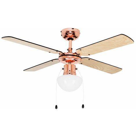 Minisun 4 Way Ceiling Light Cooling Fans Home Fan - Add LED - Copper