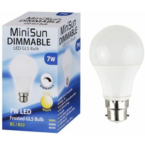 Minisun 7W Dimmable LED GLS Energy Saving Bulb Warm White