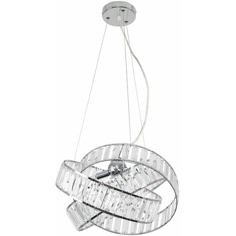 "main image of ""Acrylic Jewel Ceiling Light 3 Way Ring Pendant - Add LED Bulb"""
