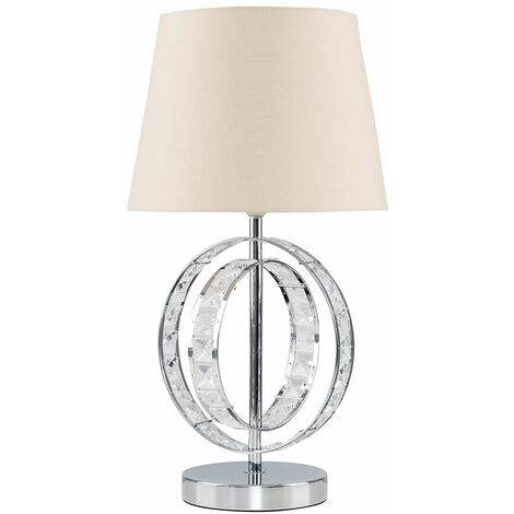 """main image of """"Acrylic Jewel Double Hoop Touch Table Lamp"""""""