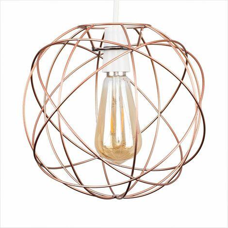 "main image of ""Atom Metal Basket Cage Ceiling Pendant Light Shade"""