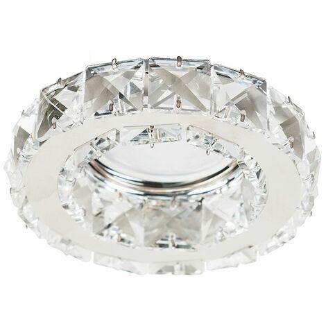 Minisun Bathroom Ip65 Rated Chrome & K9 Crystal Gu10 Ceiling Downlight LED Bulb Warm White