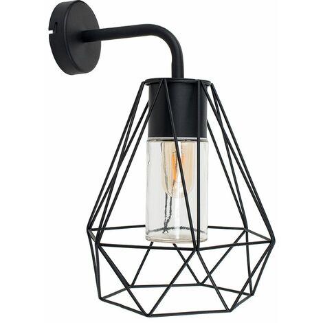 Minisun Black Metal Wall Light Industrial Lighting LED Light Bulb