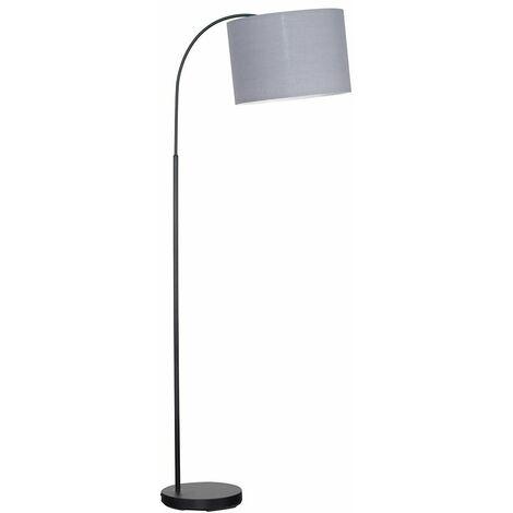 Minisun Black Stem Floor Lamp Light Shade 6W LED GLS Bulb Warm White
