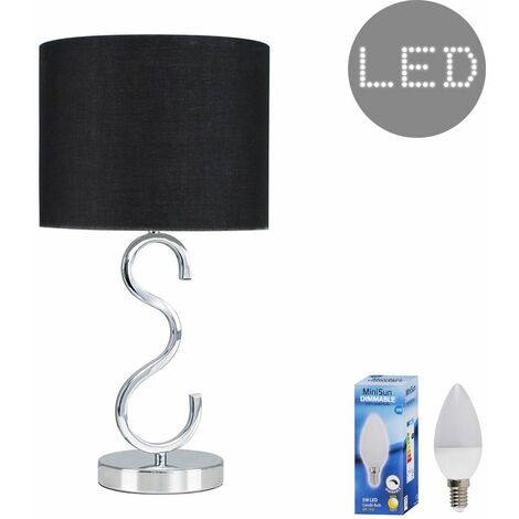 """main image of """"Cabonna Touch Table Lamp + LED Dimmable Candle Bulb - Black"""""""