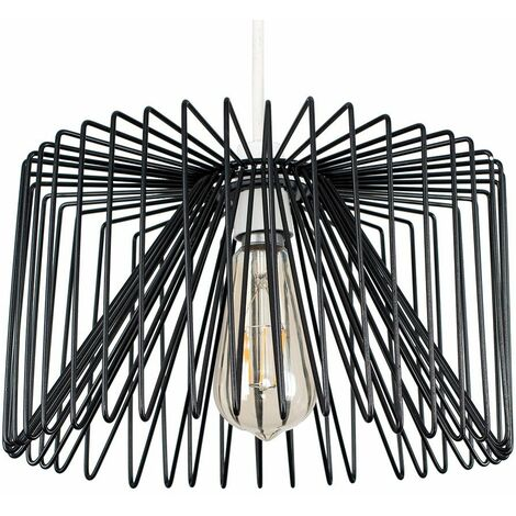"""main image of """"MiniSun - Ceiling Pendant Light Shade Industrial Wire Suspended Lampholder"""""""