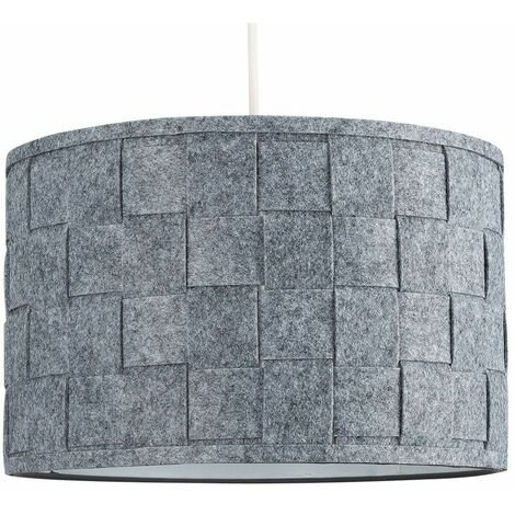 Minisun Ceiling Pendant Light Shade Table Or Floor Lampshade Grey Felt Weave Design