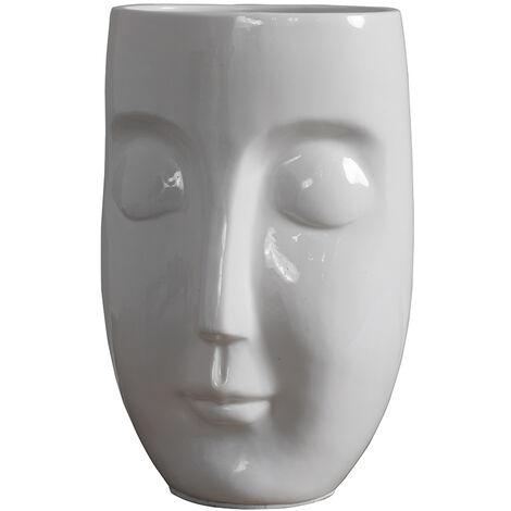 "main image of ""Ceramic Face Design Table Lamp + 4W LED Candle Bulb - Add LED Bulb"""