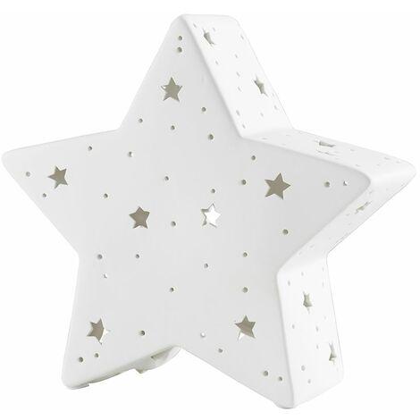 Minisun Ceramic Star Table Lamp White