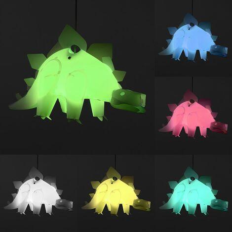 Minisun Children'S Bedroom White Stegosaurus Dinosaur Jurassic Pendant Shade