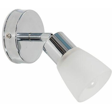 Minisun Chrome Bathroom Wall Lights Frosted Glass Shades Ip44 LED