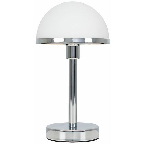 """main image of """"MiniSun - Chrome & White Glass Touch Table Lamp"""""""