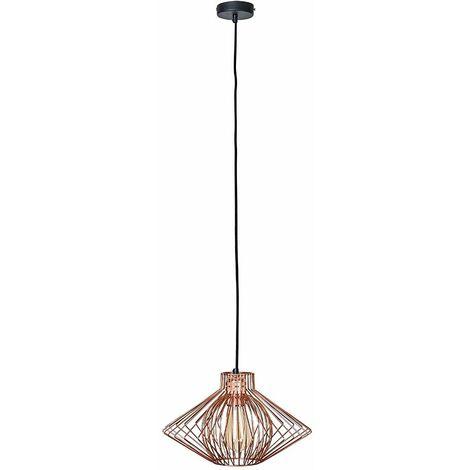 "main image of ""MiniSun - Copper Ceiling Pendant Wire Frame Copper Light Shade - Add LED Bulb"""