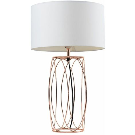 Minisun Copper Wire Table Lamp + Shade