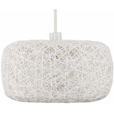 Minisun Easy Fit Rattan Lounge Living Room White Ceiling Pendant Shade