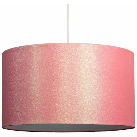 Minisun Extra Large Glitter Drum Ceiling Pendant/Table Lamp Shade