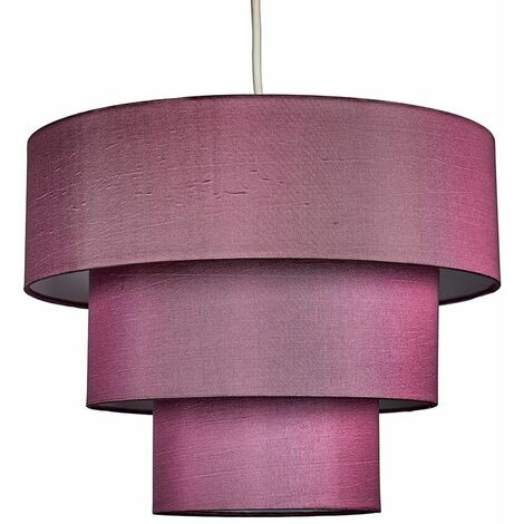 """main image of """"Fabric Ceiling Pendant Lampshade Easy Fit 3 Tier Light Shades - Copper"""""""