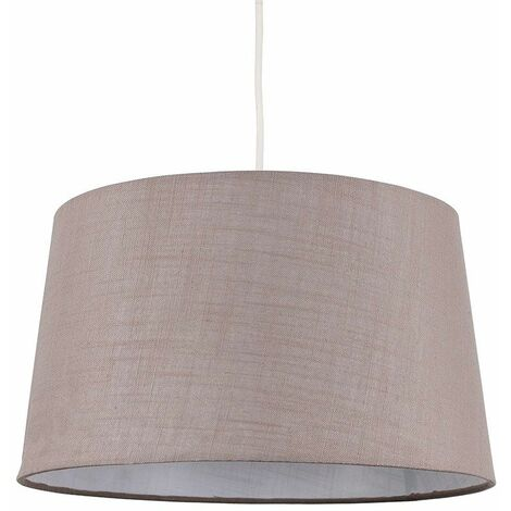 Minisun Faux Linen Shades Ceiling Pendant Table Lamp Light LED Bulb - Taupe