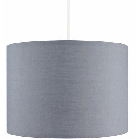 "main image of ""MiniSun - Grey Ceiling Table Floor Lamp Light Shade + 10W LED GLS Bulb - Warm White"""