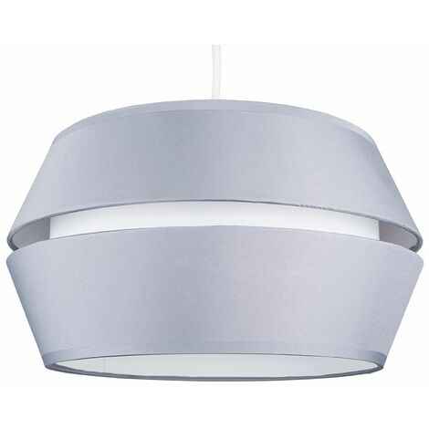 Minisun Grey Dual Ceiling Pendant Light Shade