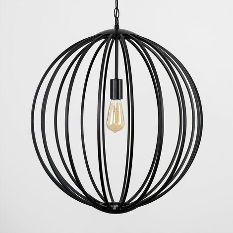 Minisun Industrial Iconic Suspended Ceiling Light Black Copper - Add LED Bulb