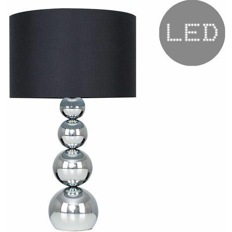 MiniSun Large Marissa Touch Table Lamp + LED Bulb