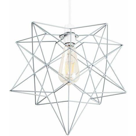 MiniSun LED Pendant Ceiling Shade Wire Frame Style Vintage Filament Pear Bulb
