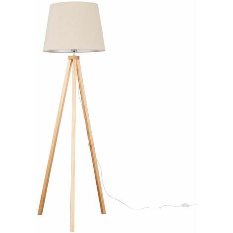 "main image of ""Barbro Light Wood Tripod Floor Lamp"""