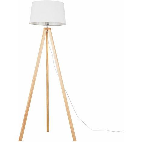 "main image of ""Barbro Grey Wood Tripod Floor Lamp"""