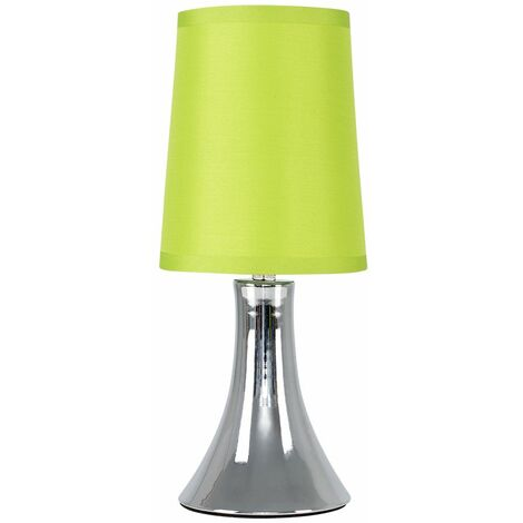 Minisun Modern Touch Table Lamp Dimmable Chrome Bedside Lounge Light Shade