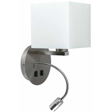 Square Shade Hotel Wall Lights Reading Light Usb 20395