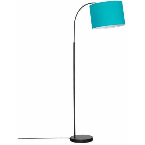 Minisun Style Black Curved Stem Floor Lamp + Light Shade