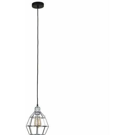 """main image of """"Suspended Ceiling Light Fitting in Chrome with Hamish Shade - Chrome"""""""