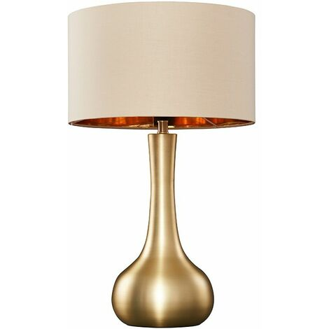 """main image of """"Table Lamp in Satin Gold - Black"""""""