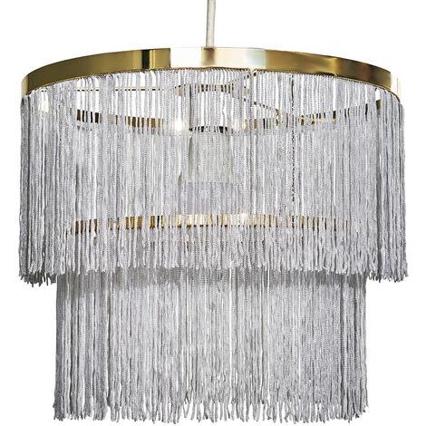 "main image of ""Tassel Ceiling Pendant Lightshade - Grey"""