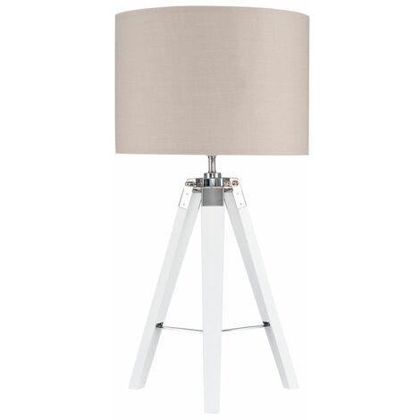 MiniSun Tripod Clipper Table Lamp - 6W LED GLS Bulb - Black - White
