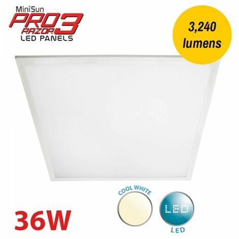 MiniSun Ultra Bright LED Ceiling Light Panel Downlight Cool White A+ 600mm x 600mm - White