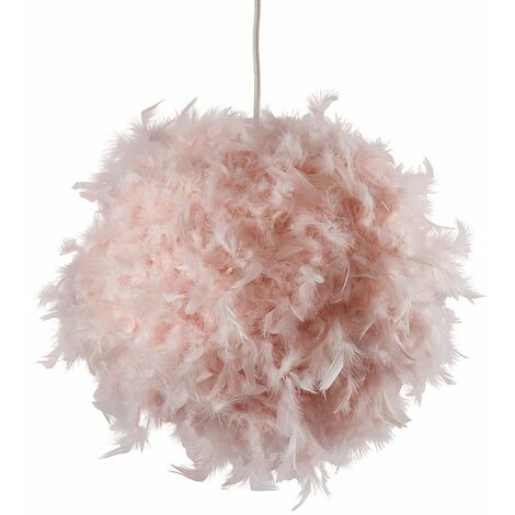 """main image of """"Uriel Real Feather Ball Shade - White"""""""