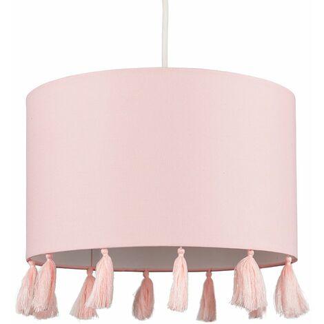 "main image of ""MiniSun - Vivian 30cm Easy Fit Ceiling Light Shade - Pink"""