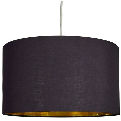 "main image of ""MiniSun - XL Pendant Drum Shade Black With Gold Inner"""