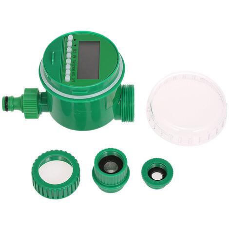 Minuterie d'arrosage automatique de jardin, robinet, minuterie intelligente LCD electronique, minuterie d'arrosage de robinet a bille domestique, batterie non incluse