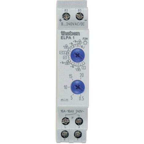 Minuterie descalier profilé 8 V DC/AC, 12 V DC/AC, 24 V DC/AC, 110 V DC/AC, 230 V DC/AC Theben 0010002