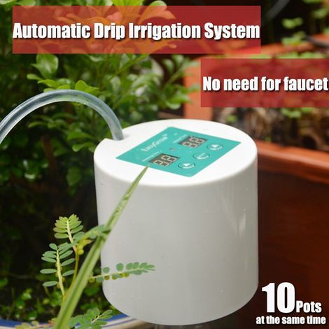 Minuterie D'Irrigation Goutte ¨¤ Goutte Automatique Syst¨¨me D'Arrosage Automatique Syst¨¨me De Fertilisation Des Plantes - Blanc