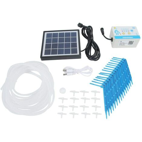 """main image of """"Minuterie d'irrigation, Kit de contrôleur d'arrosage Automatique Solaire Intelligent"""""""