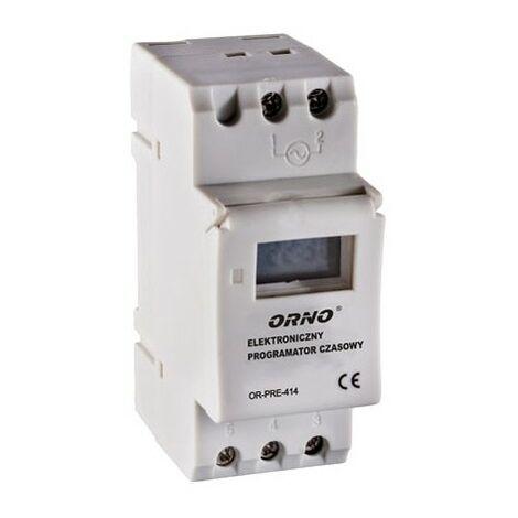 minuterie électronique, 16 programmes, 2 modules, DIN-TH 35 mm