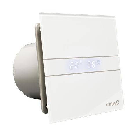 Minuterie num rique de ventilateur d'extracteur de salle de bains en verre blanc de 120 mm Culina E120GTH