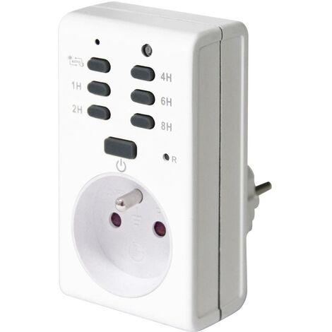 Minuterie pour prise électrique analogique GAO EMT1700P-F programme journalier 1800 W IP20 fonction crépusculaire