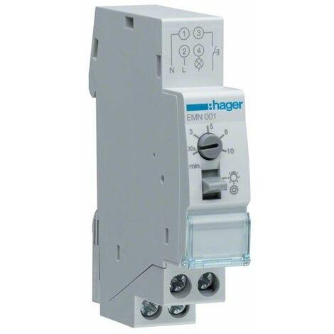 Minutero de escalera 16A 230V 1 contacto NA Hager EMN001