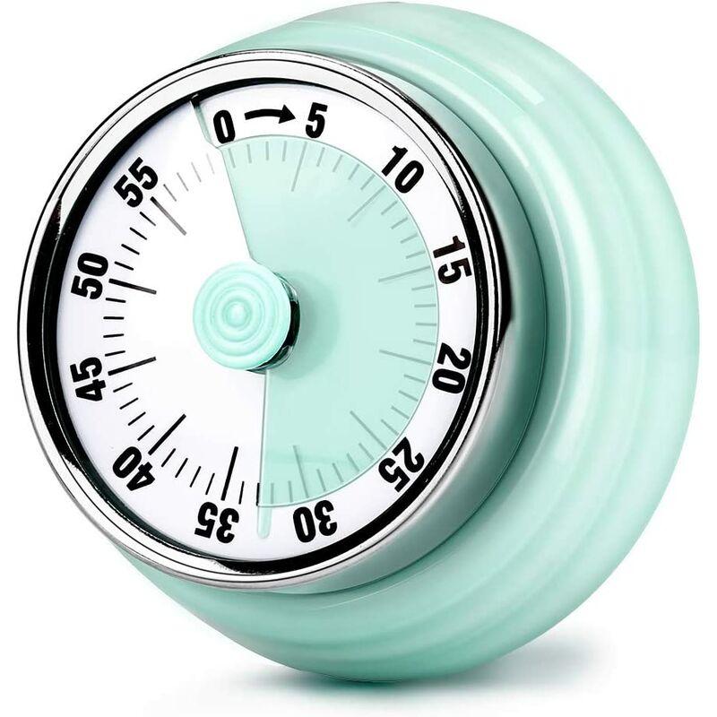 Bares - Minuteur de Cuisine, 60 Minutes Mécanique Magnétique Aucune Batterie Requise avec 72db Alarme