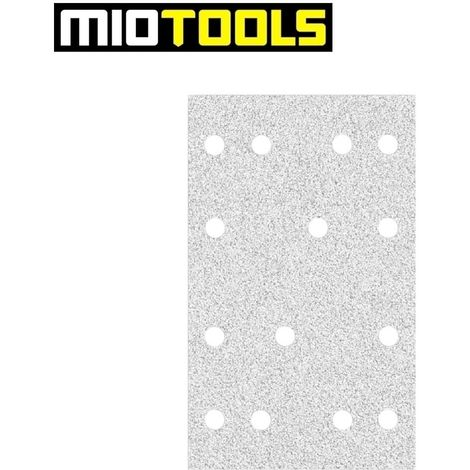 MioTools Klett-Schleifbögen, Korund mit Stearat, 133 x 80 mm, K40–400